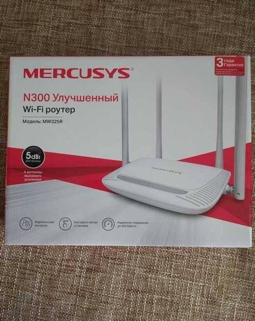 Настройка роутера mercusys n300 mw325r – инструкция по подключению к компьютеру и установке интернета по wifi