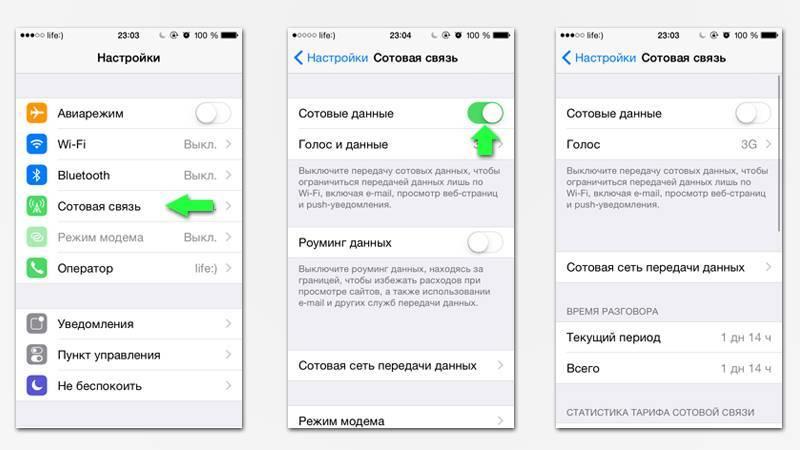 Как включить передачу данных на айфоне: инструкция