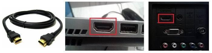 Как подключить компьютер к телевизору через кабель?