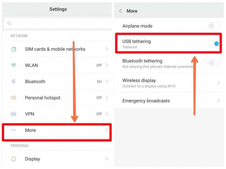 Телефон android как модем для компьютера или ноутбука на windows — usb и bluetooth