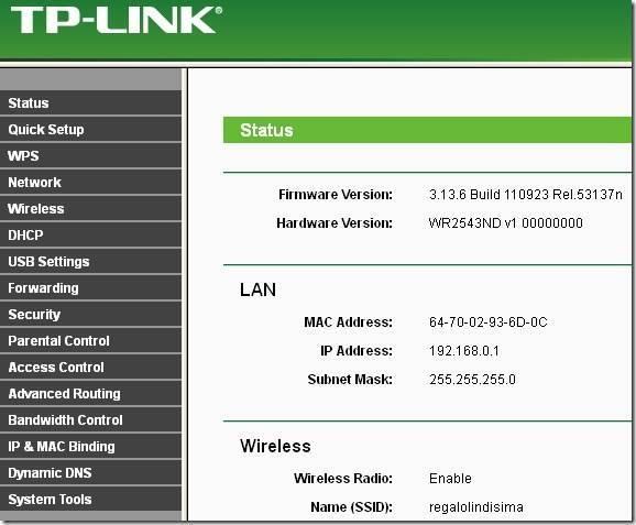 Прошивка tp-link tl-wr841n на dd-wrt
