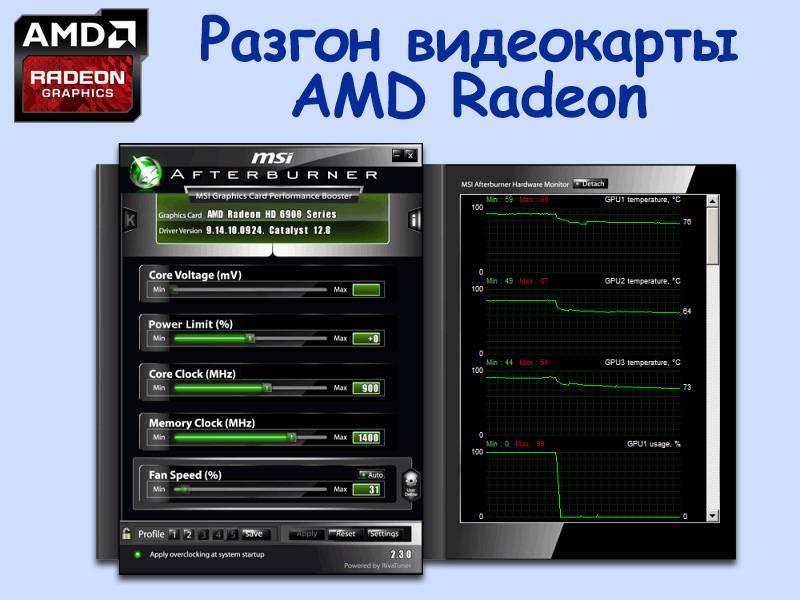Как разогнать видеокарту amd radeon (амд радеон)