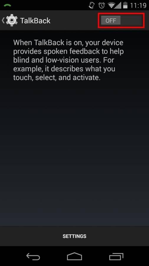 Как убрать специальные возможности на андроиде. отключаем talkback на android