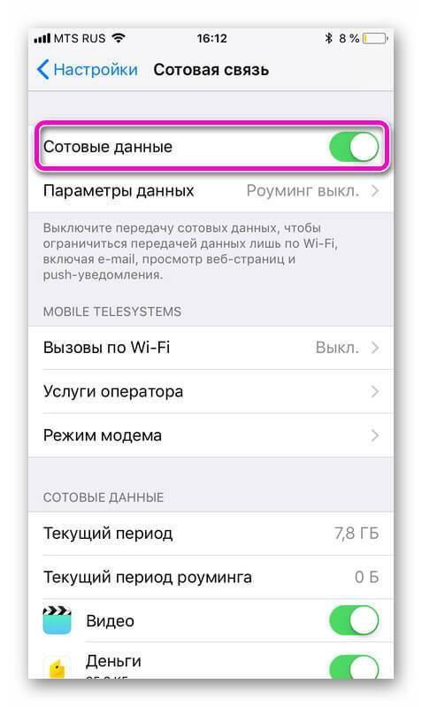 Как отключить мобильные данные на айфоне appzone.su - все про iphone