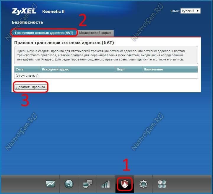 Как открыть порты на роутере zyxel keenetic