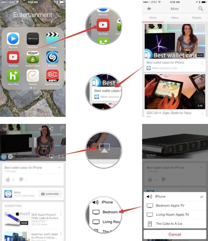 Как подключить iphone к телевизору. с проводом и без
