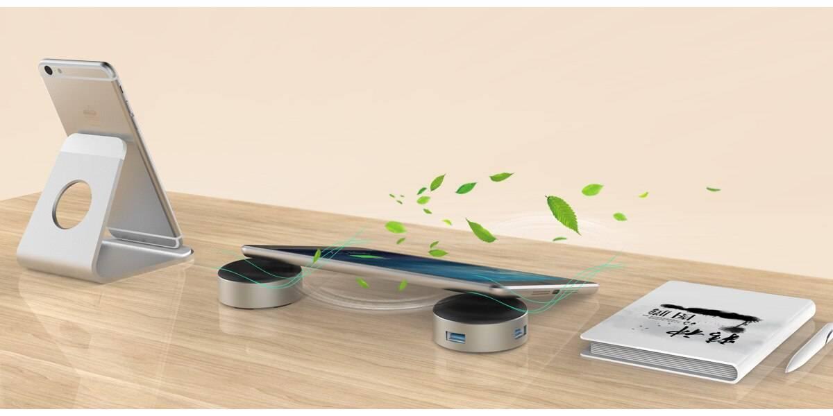 Док-Станция ORICO ANS6-SV — USB Концентратор и Подставка Для Ноутбука