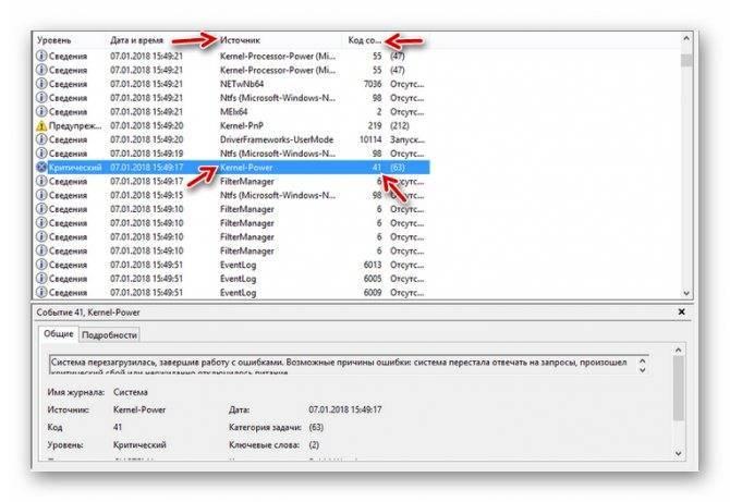 Kernel power (код события 41) – причины ошибки в windows 7, 8, 10, как исправить, если диспетчер питания ядра инициировал завершение работы
