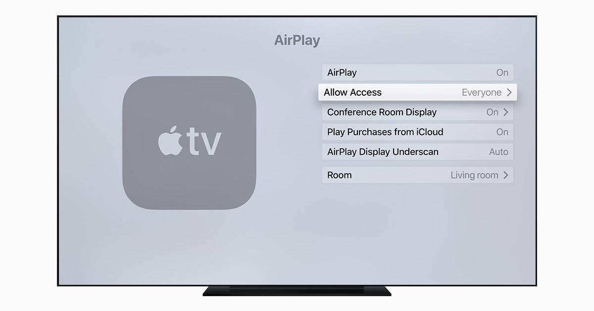 Как изображение с iphone, ipad передать на телевизор через apple tv?