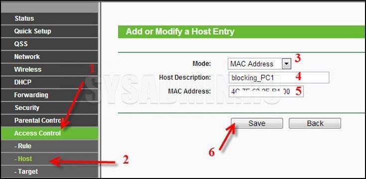 Блокировка сайта или интернета в роутере tp-link — как ограничить доступ для компьютера пользователя по ip или mac адресу устройства?