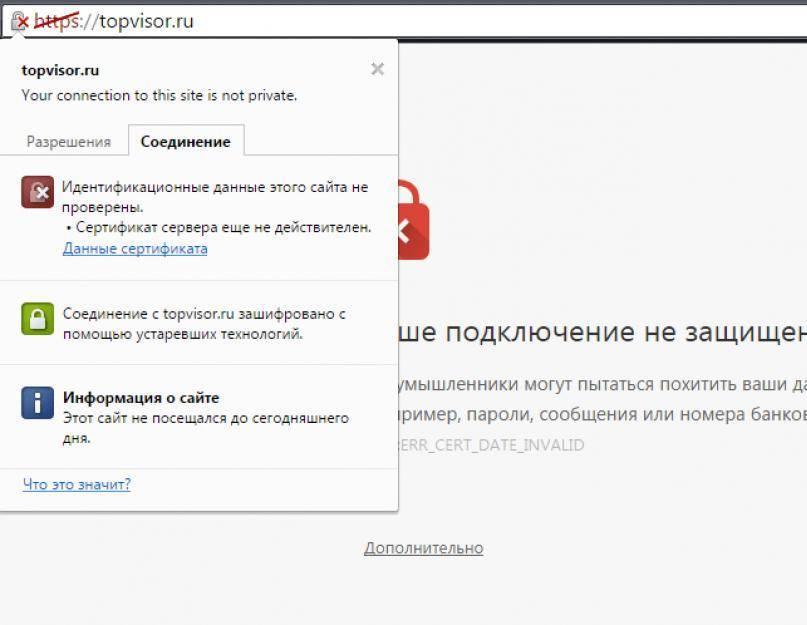 Firefox: ваше соединение не защищено. как исправить