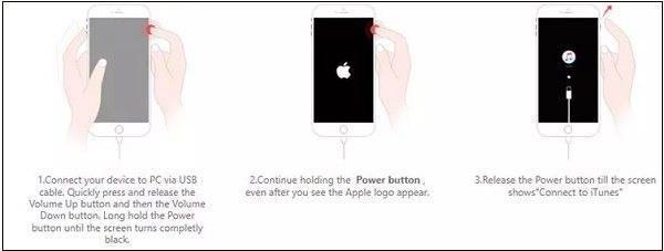 Горит яблоко и не включается айфон