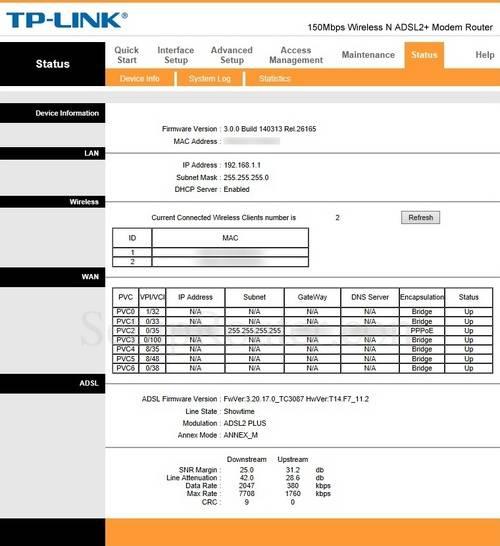 Настройка модема tp-link td-w8961nd (ip tv,интернет,wifi)