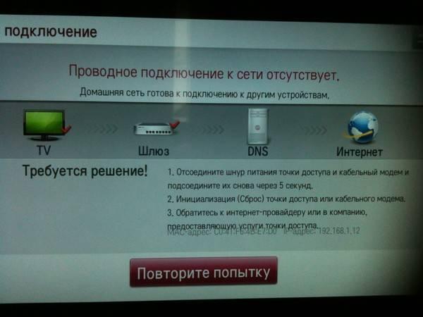 Как проверить настройки интернета на телевизоре
