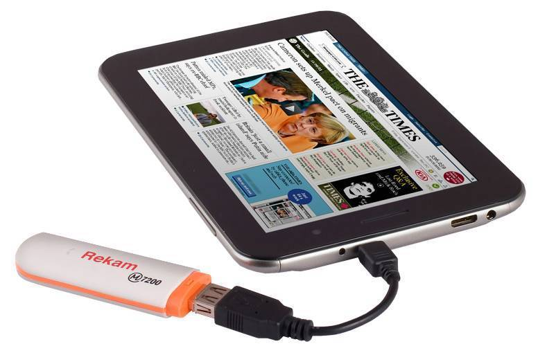 Подключение usb-модема к планшету на базе андроид