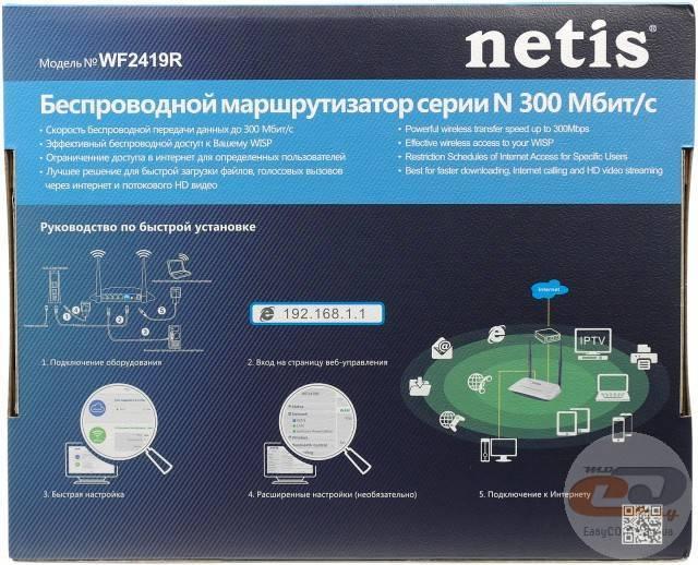 Настройка роутера netis wf2419e