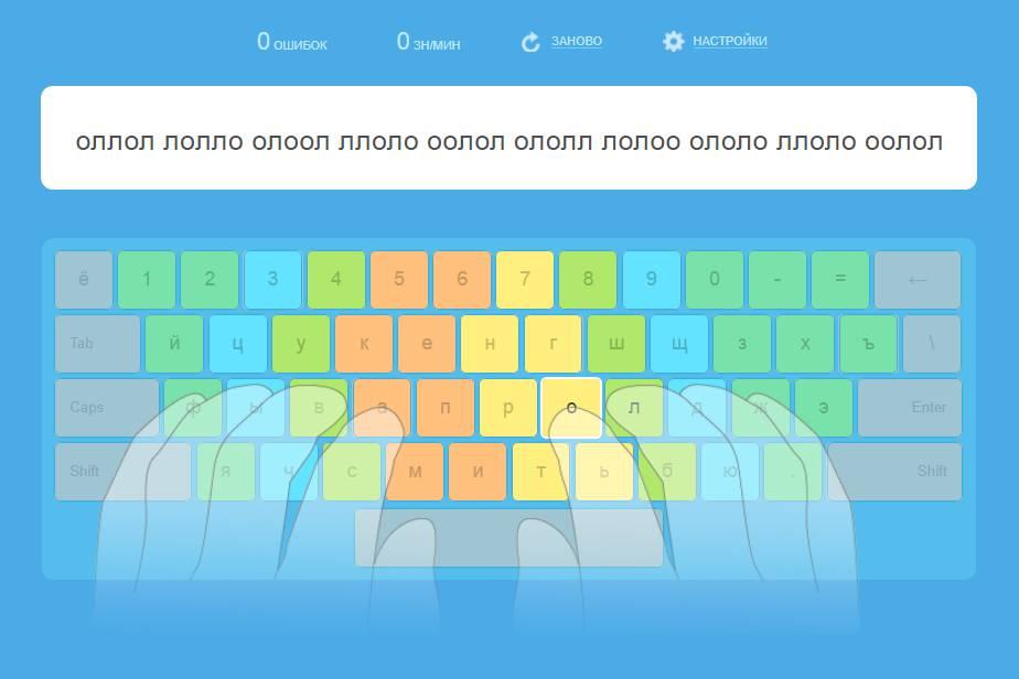 """Как научиться быстро печатать на клавиатуре - метод """"слепой"""" печати"""