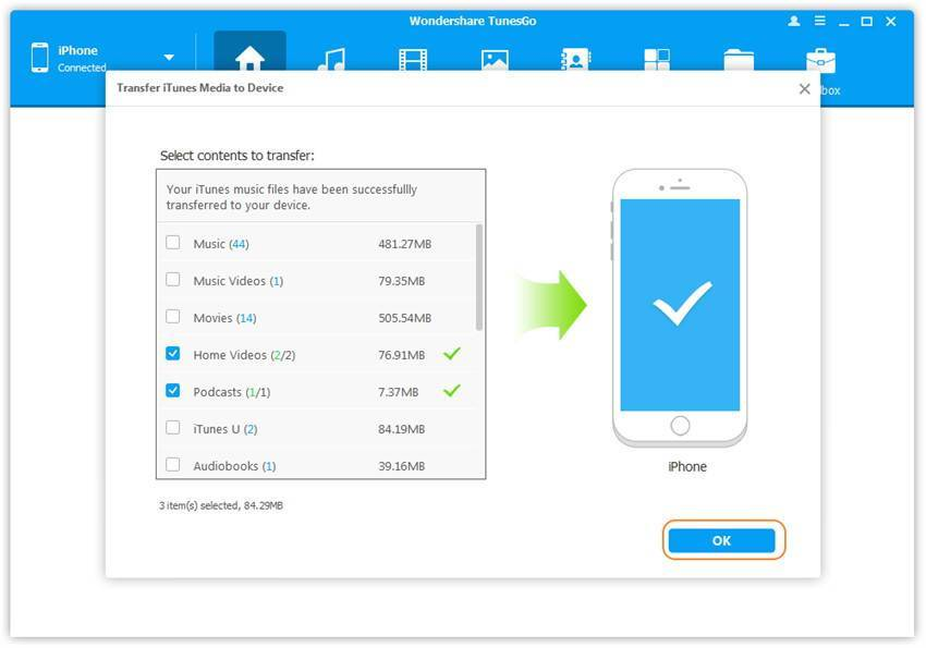 Перенос музыки, фото, видео, и других данных с iphone на ipad