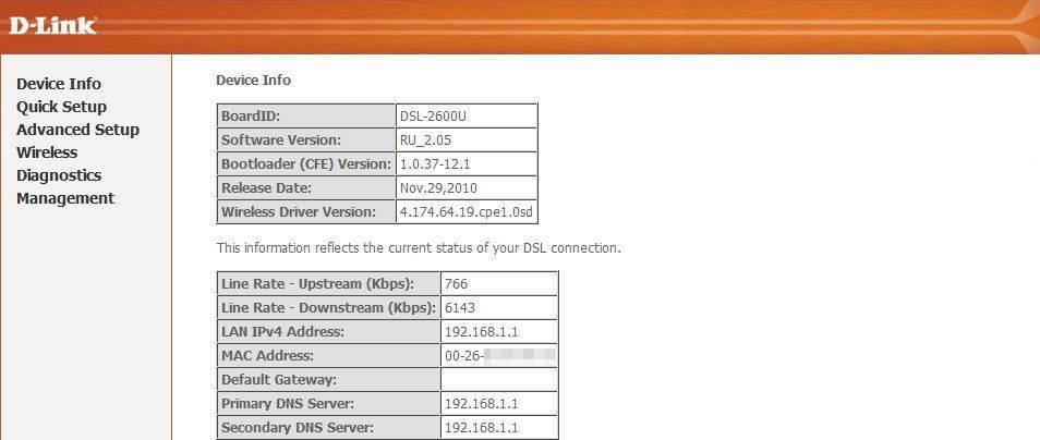 Пошаговая настройка модема d-link 2640u для ростелекома и других провайдеров