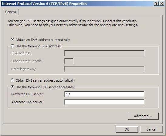 Настройка адреса ipv6 в windows