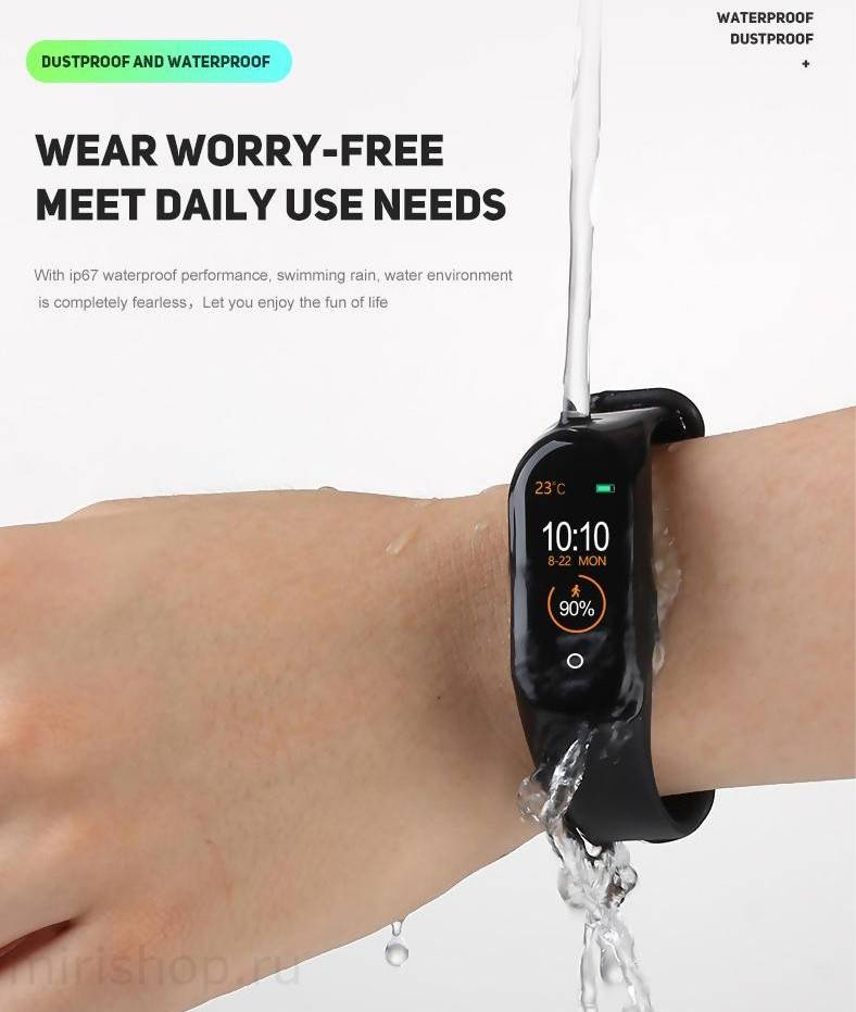 Фитнес-браслет smart bracelet m4 - инструкция на русском