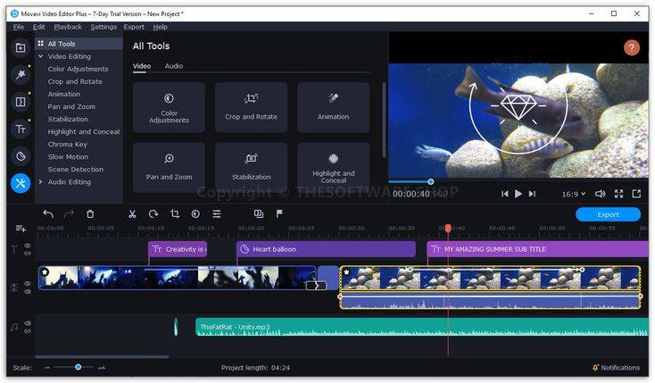 Создание Видео Из Фотографий и Музыки — Программа Movavi Video Editor Plus