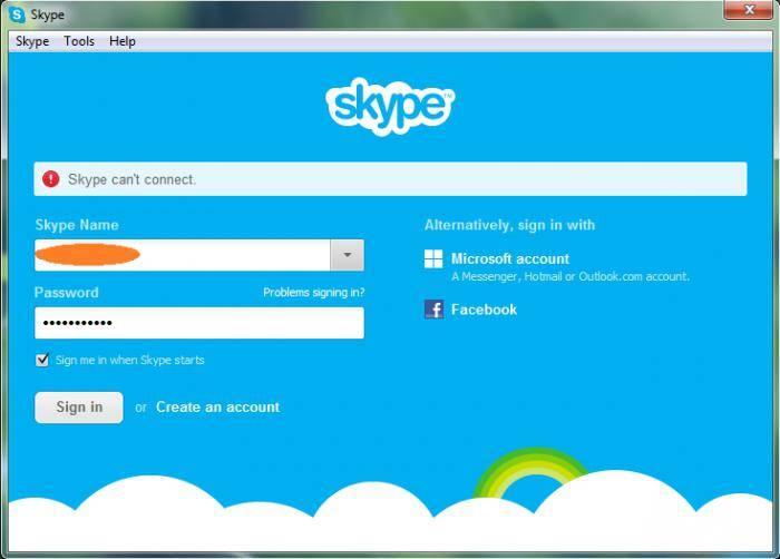 Что делать, если skype не удалось установить соединение и мессенджер не работает?