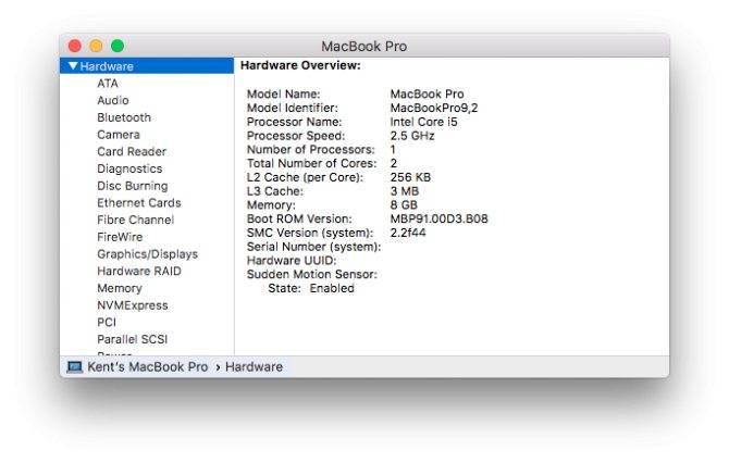 Узнаем модель   macbooky