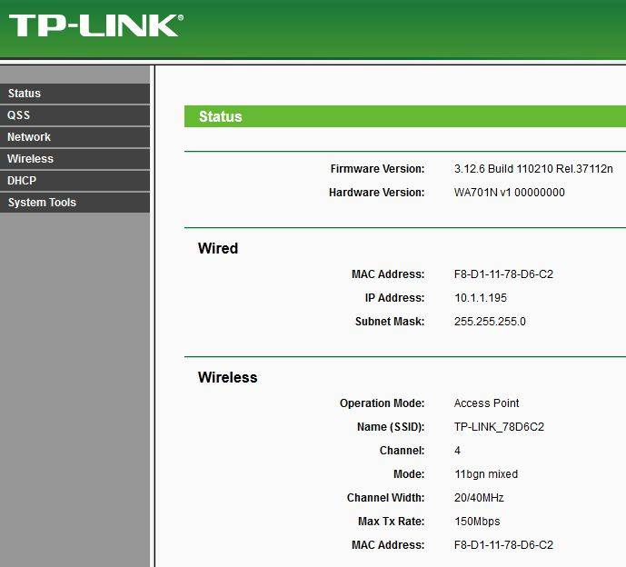 Настройка tp-link tl-wa701nd и tp-link tl-wa801nd как точка доступа, репитер и адаптер