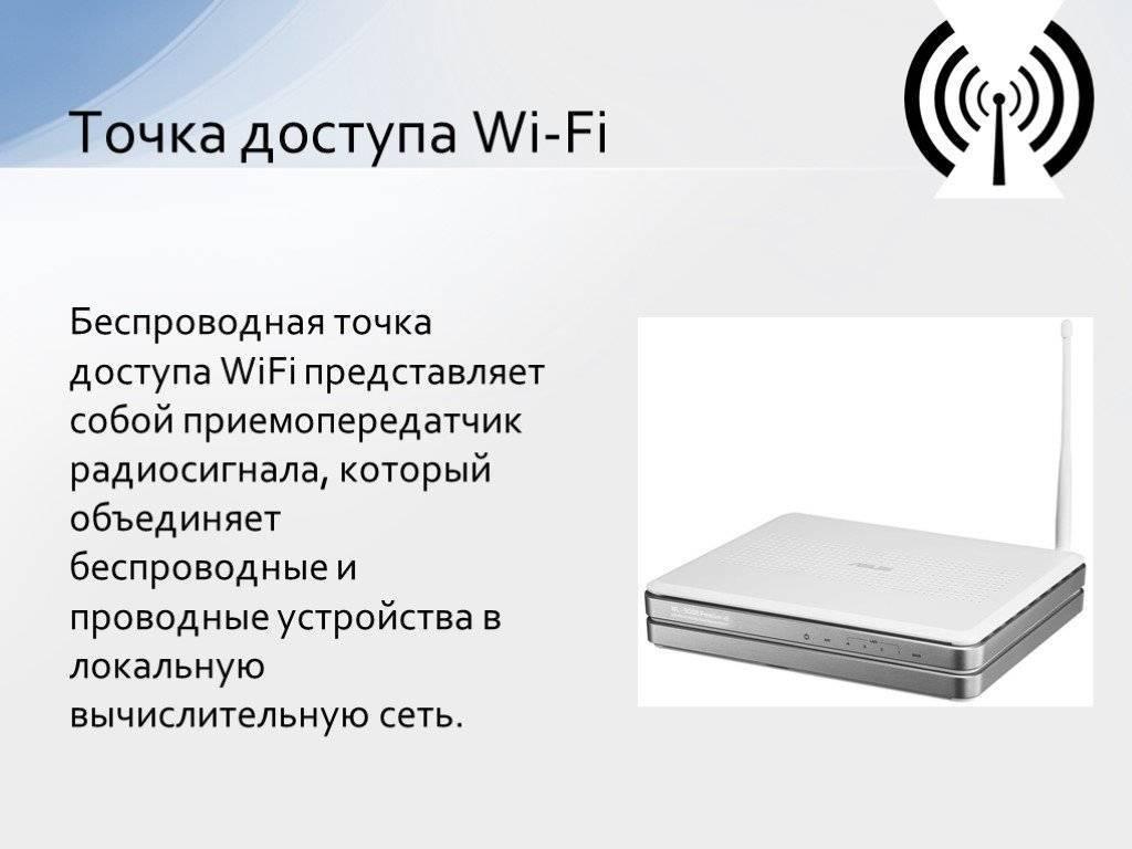 Точка доступа wi-fi: что это такое, для чего нужна, отличия от роутера   a-apple.ru