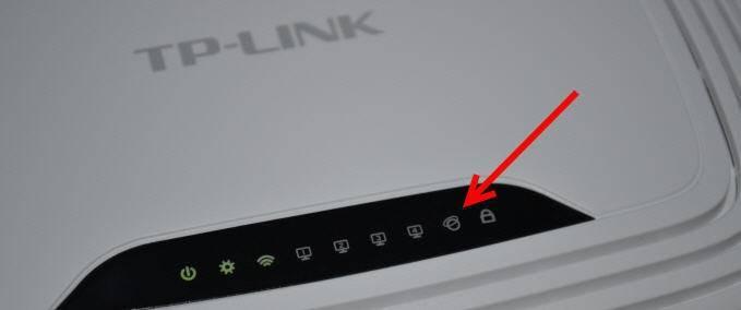На роутере tp-link горит оранжевая (красная) лампочка интернета wan